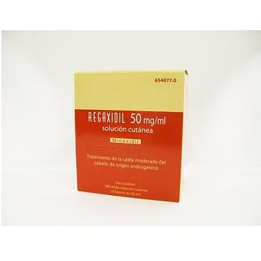 Imagen del producto REGAXIDIL 50 mg/ml SOLUCION CUTANEA , 3 frascos de 60 ml