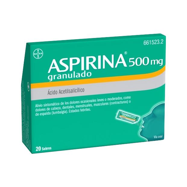 Imagen del producto ASPIRINA 500 MG GRANULADO 20 SOBRES