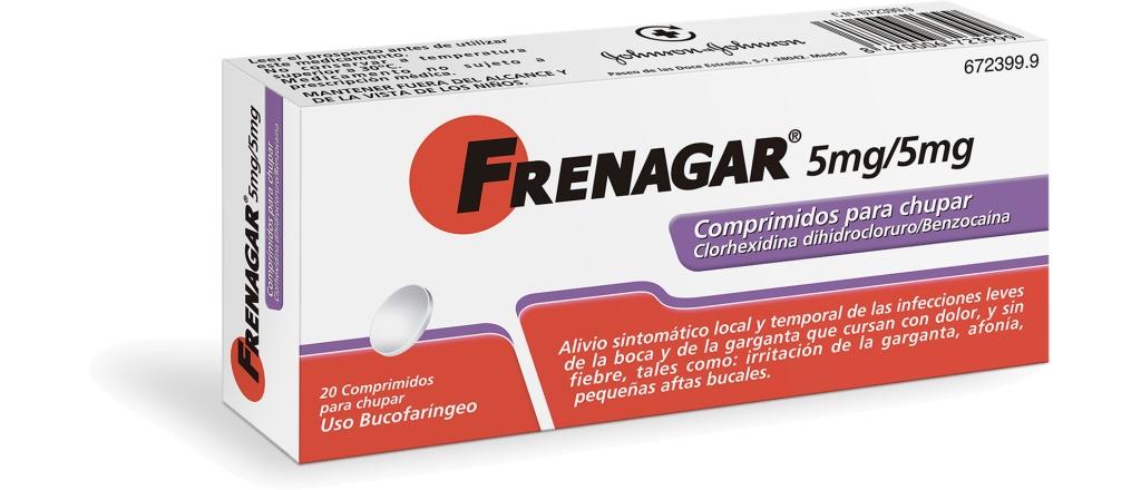 Imagen del producto FRENAGAR 5 MG/5MG COMPRIMIDOS PARA CHUPAR , 20 COMPRIMIDOS