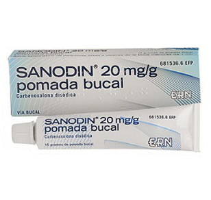 Imagen del producto SANODIN (2% POMADA BUCAL 15 G)
