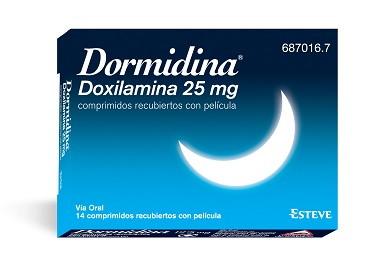 Imagen del producto DORMIDINA 25 MG 14 COMPRIMIDOS RECUBIERTOS CON PELÍCULA
