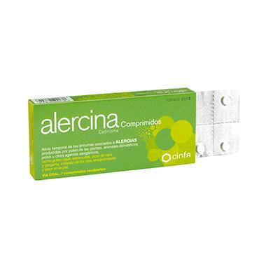 Imagen del producto ALERCINA 10 MG 7 COMPRIMIDOS RECUBIERTOS