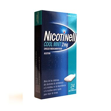 Imagen del producto NICOTINELL COOL MINT 2 MG 24 CHICLES MEDICAMENTOSOS
