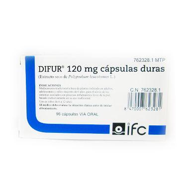 Imagen del producto DIFUR 120 mg CAPSULAS DURAS , 96 cápsulas