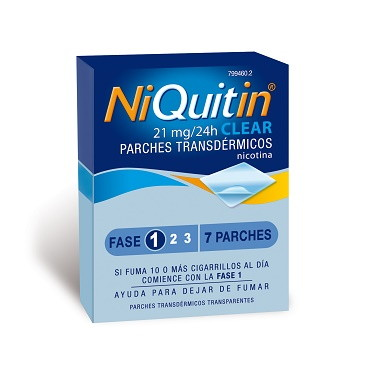 Imagen del producto NIQUITIN CLEAR 21 MG 7 PARCHES TRANSDÉRMICOS