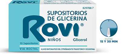 Imagen del producto SUPOSITORIOS DE GLICERINA ROVI NIÑOS 15 SUPOSITORIOS