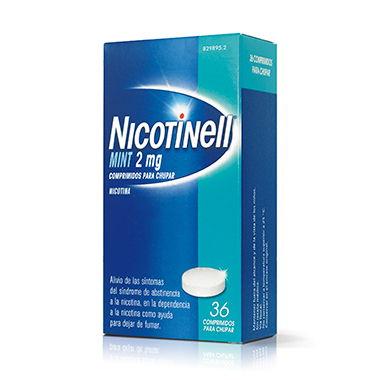 Imagen del producto NICOTINELL MINT 2 MG COMPRIMIDOS PARA CHUPAR 36