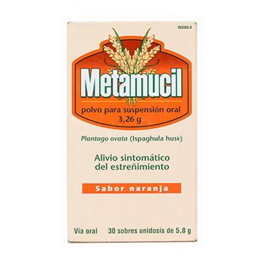 Imagen del producto METAMUCIL 3.26 G POLVO PARA SUSPENSIÓN ORAL 30 SOBRES