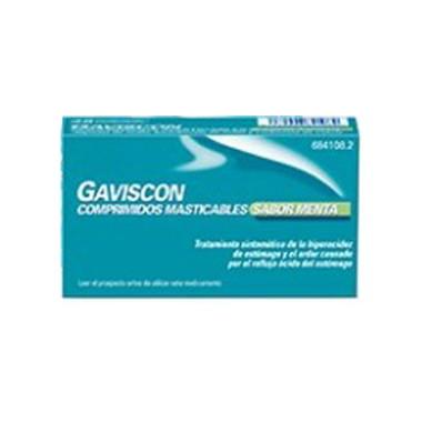 Imagen del producto GAVISCON COMPRIMIDOS MASTICABLES SABOR MENTA, 48 comprimidos masticables