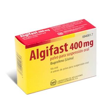 Imagen del producto ALGIFAST 400 MG POLVO 4 SOBRES