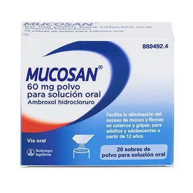 Imagen del producto MUCOSAN 60 MG POLVO PARA SOLUCIÓN ORAL, 20 SOBRES