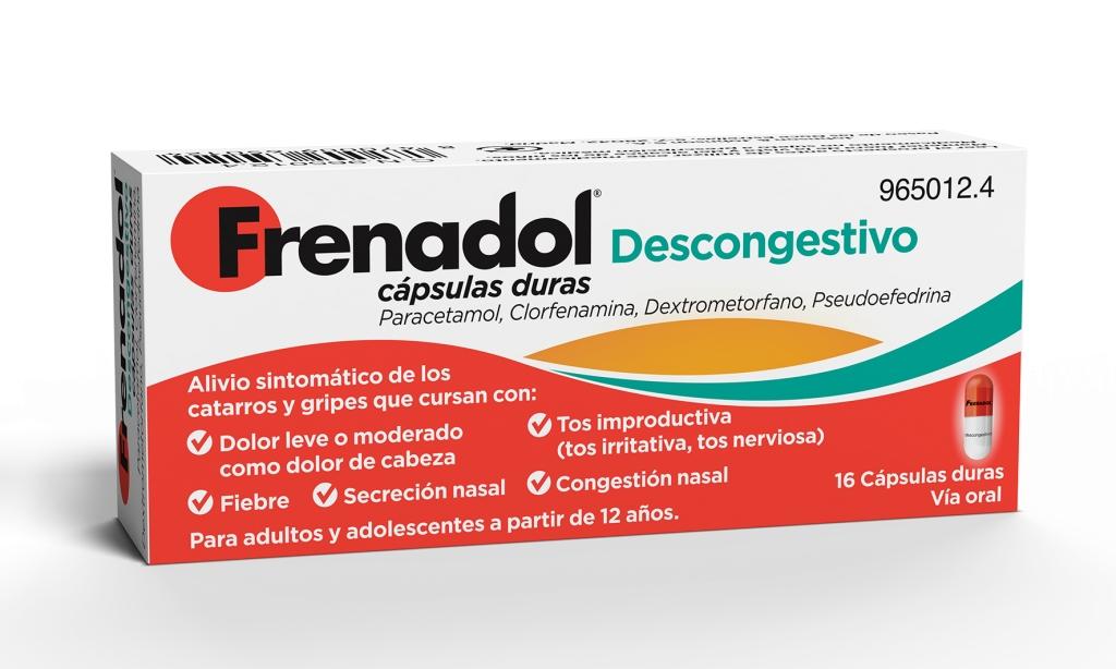 Imagen del producto FRENADOL DESCONGESTIVO CÁPSULAS DURAS 16 CÁPSULAS